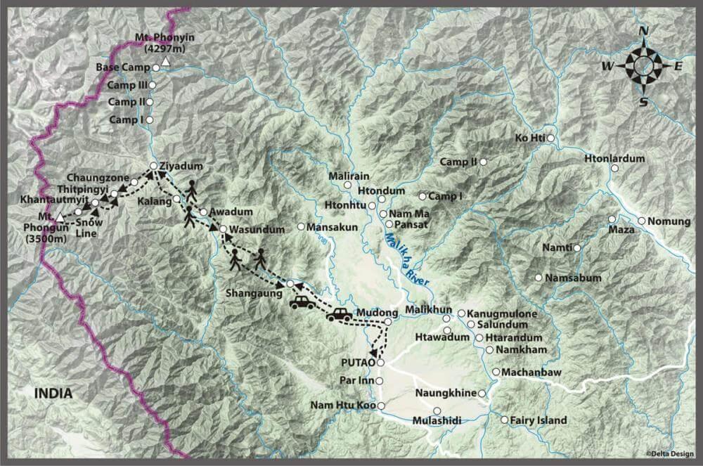 12 days Putao - Mt. Phongun