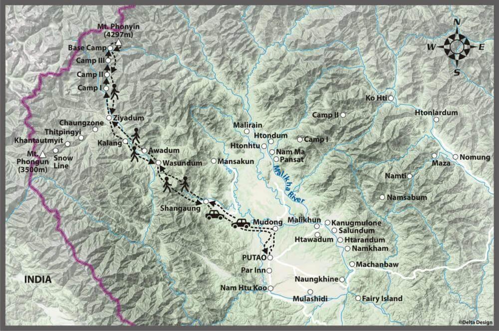 12 days Putao Mt. Phonyin