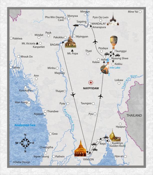 14 Tage Myanmar, mit Ballonfest in Taunggyi