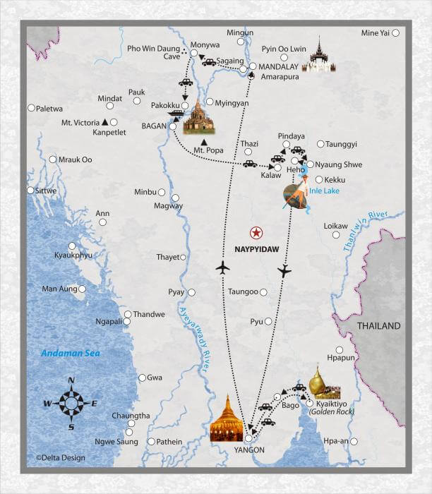 14 Tage Myanmar, mit Kyaikhtiyo
