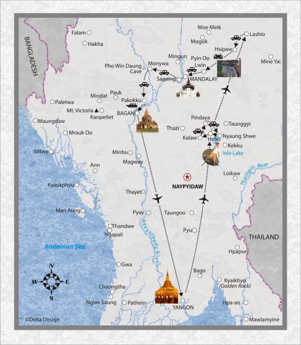 17 Tage Myanmar, mit Burma Road