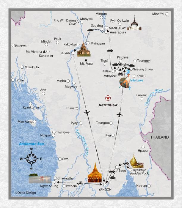 21 Tage Myanmar - Einblick in das alte Burma