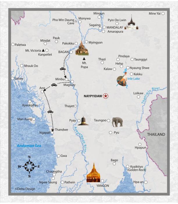 3 Tage Ueberlandfahrt von Bagan nach Ngapali