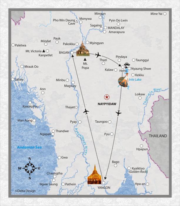 5 Tage Myanmar mit Inle-See