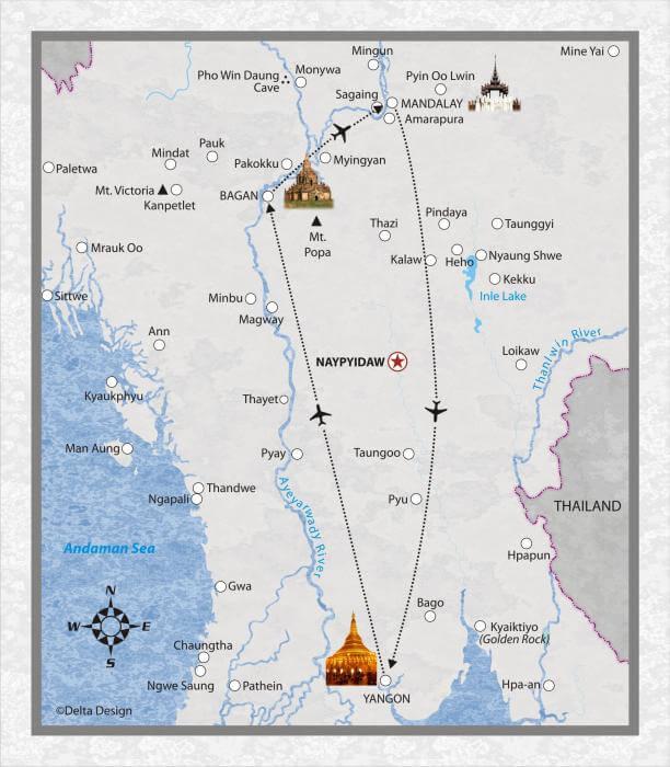 5 Tage Myanmar mit Mandalay