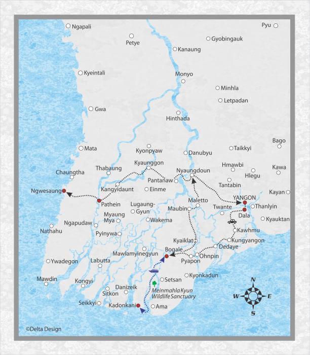 9 Days Ayeyarwady Delta