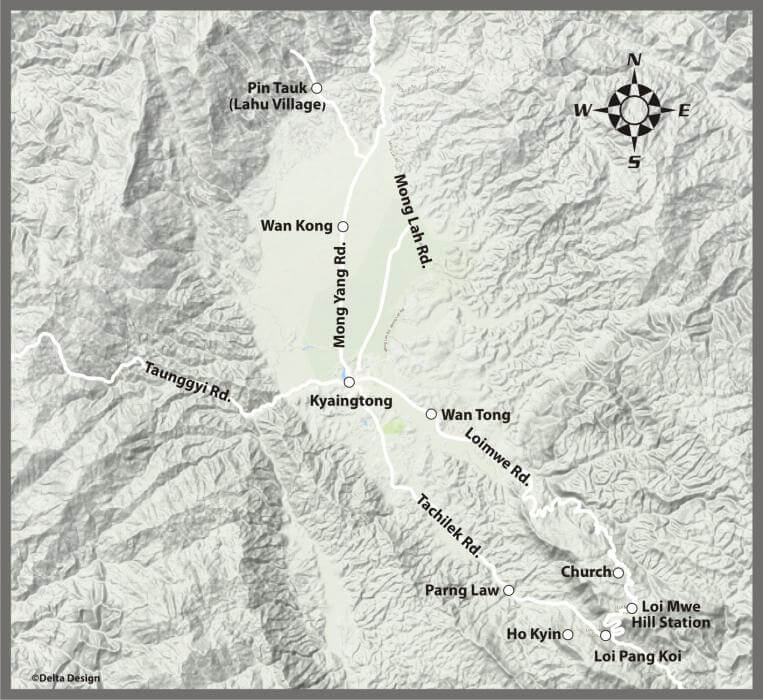 Kyaingtong Trekking Map