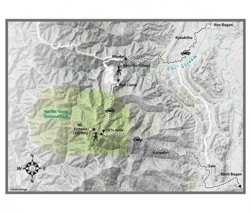 Mount Victoria Trekking Map_0