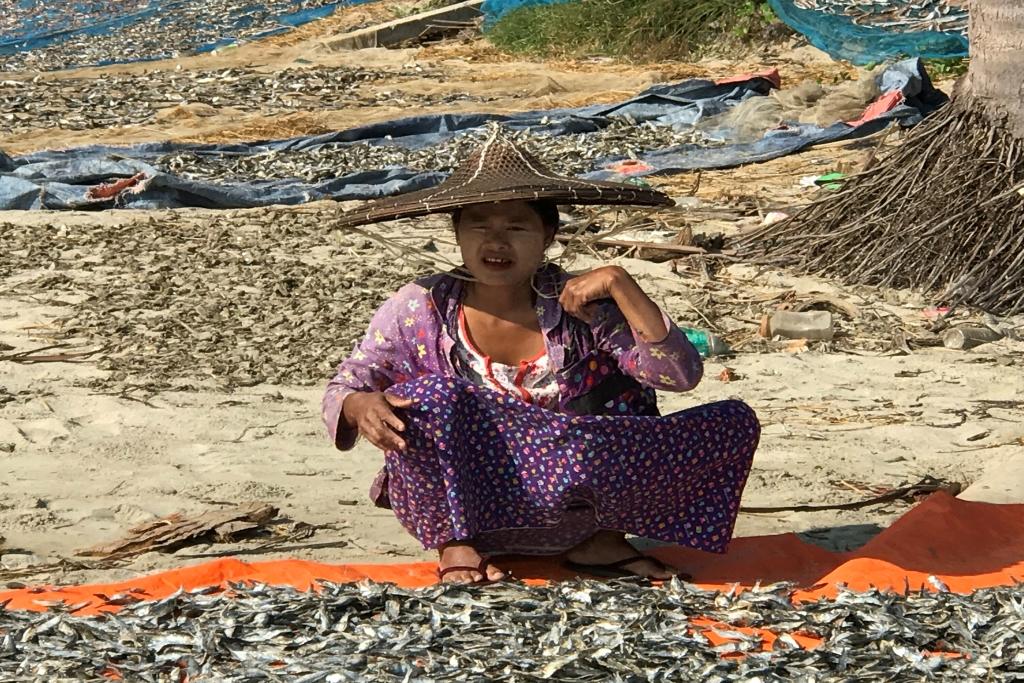 Fischerdorf Tazin bei Ngwe Saung Beach