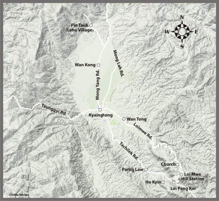 Kyaingtong Trekking Map_2
