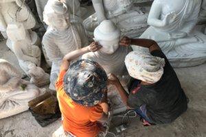 Marmor Steinmetzerei in Mandalay