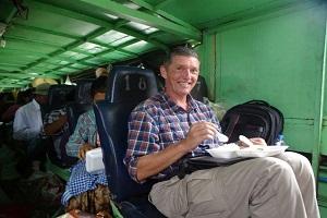Mit dem Expressboot den Chindwin flussab